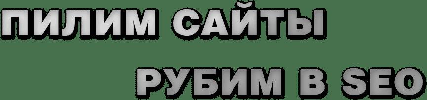 ПИЛИМ САЙТЫ, РУБИМ В SEO
